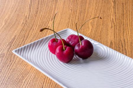 cherry on background Stock Photo