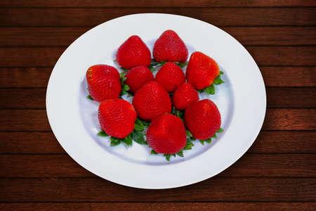 strawberry isolated on background