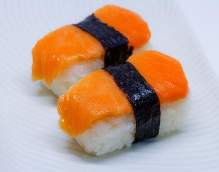 sushi isolated on white background Stock Photo