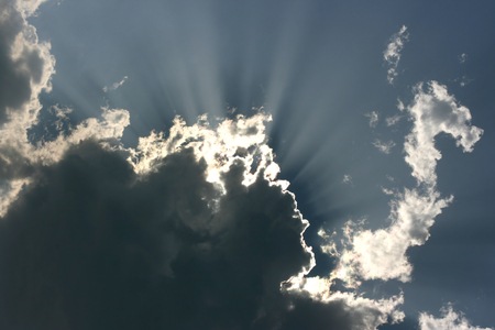 Beams of the sun closed by clouds Stock Photo - 1718839
