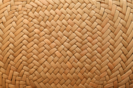 straw twig: Part of a straw hat close up Stock Photo