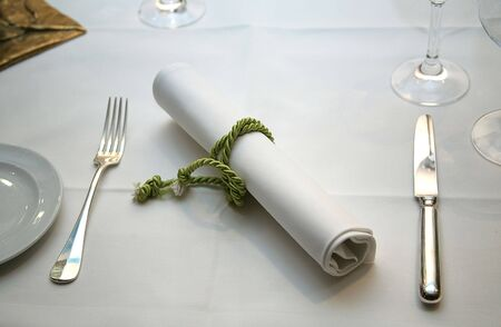 The served table at restaurant
