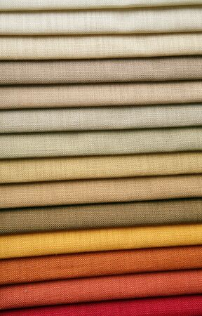 silk wool: Color samples of a fabric in shop