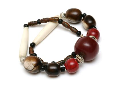 frippery: Greater beads from a coral on a white background