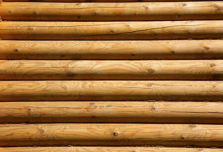 Wall of the rural  from wooden logs