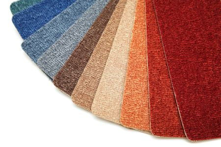 Samples of color of a carpet covering  Stock Photo