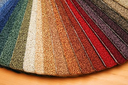 Samples of color of a carpet covering Stock Photo - 3595707