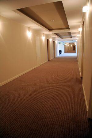 Long corridor in hotel with doors in rooms Stock Photo - 3713270
