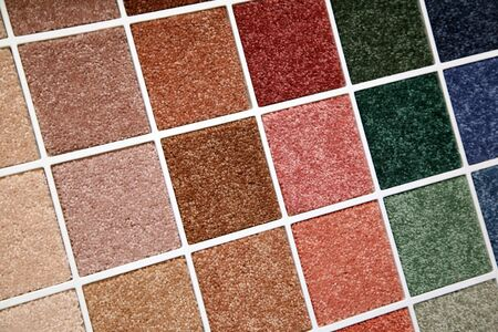 Samples of color of a carpet covering photo