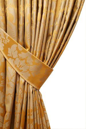 cortinas: hermosa cortina sobre el borde de una ventana Foto de archivo