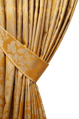 Vorhang auf für schöne Rand eines Fensters