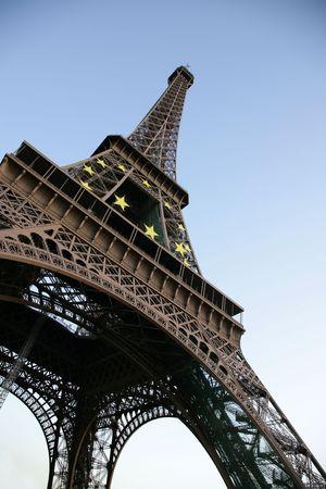 deiffel: Tour dEiffel against the evening sky, Paris