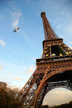 Tour dEiffel against the evening sky, Paris