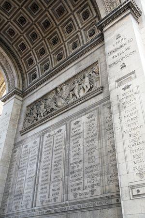 Triumphal arch (Arc de Triomphe), Paris, France