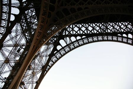 Part of the Eiffel tower close up photo