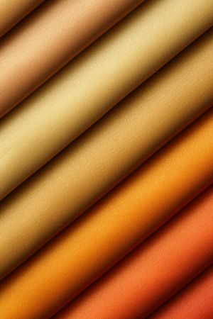 Color samples of a fabric in shop photo