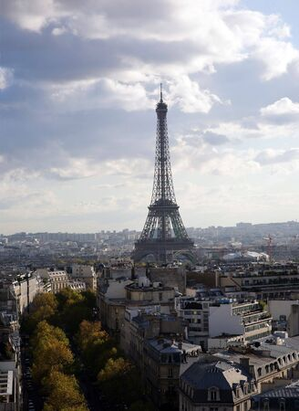 Kind to Paris from a triumphal arch photo