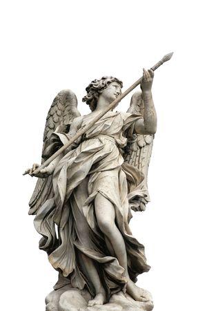 escultura romana: Uno de los �ngeles en el puente