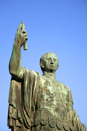 Sculpture of emperor Caesari Nervae Avg, Rome, Italy