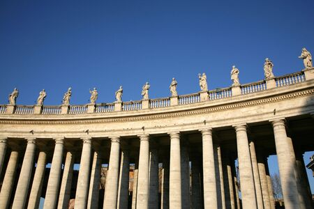 statuary: Sculptures of saints in Vatican, Rome, Italy