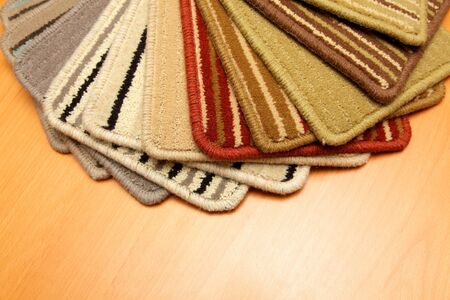 Samples of color a carpet covering in shop photo