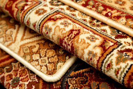 Samples of color a carpet covering in shop Zdjęcie Seryjne