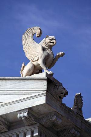 Chimera sculpture on a building roof Stock Photo - 6815077