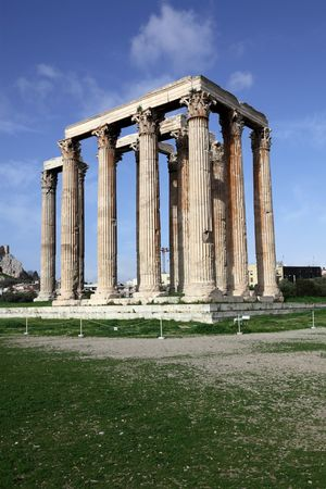 olympian: temple of Olympian Zeus in Athens, Greece