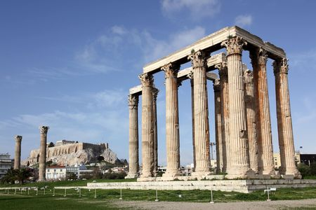 temple of Olympian Zeus in Athens, Greece photo
