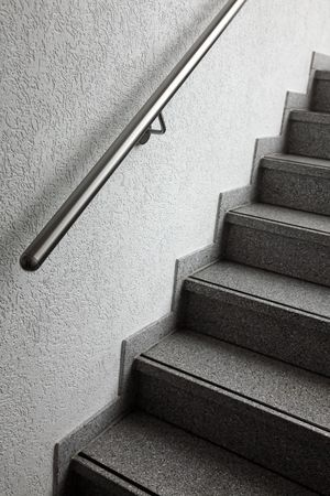 staircase with a metal handrail Stock Photo - 7634086