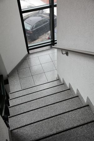 staircase with a metal handrail Stock Photo - 7686796