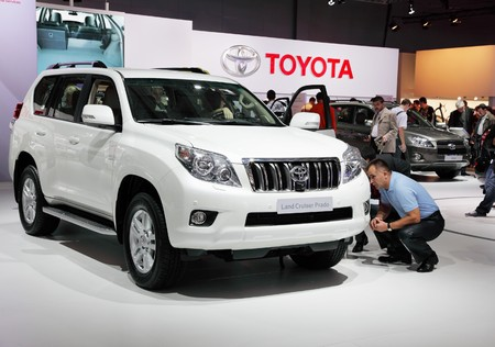 MOSCOW - SEP 5: Toyota Land Cruiser Prado, Moscow international motor show 2010 on September 5, 2010 in Moscow, Russia