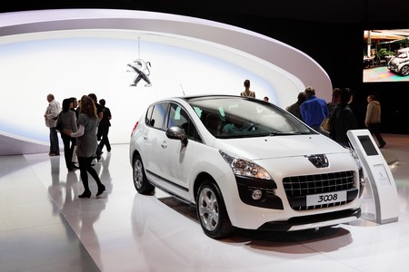 MOSCOW - SEP 5: Peugeot 3008, Moscow international motor show 2010 on September 5, 2010 in Moscow, Russia
