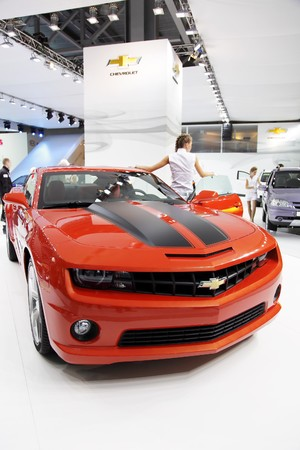 chevrolet: MOSCOW - SEP 5: Chevrolet Camaro, Moscow international motor show 2010 on September 5, 2010 in Moscow, Russia