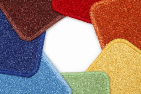 Samples of carpets located on a circle photo
