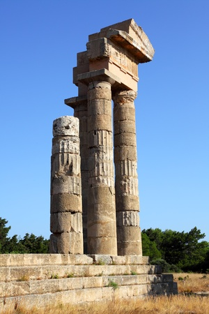 antiquities: ancient acropolis on the island of Rhodes