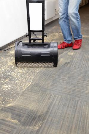 iszapos: Szőnyegek por és a gép