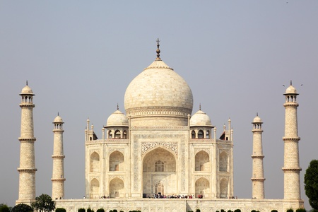 The Taj Mahal is a mausoleum and a mosque, located in Agra photo