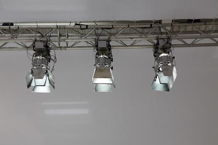 three spotlight on metal frame photo