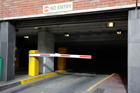 barrier: barrier to entry in the underground Parking
