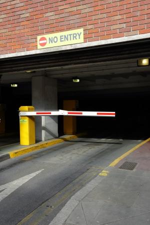 barrier gate: barrier to entry in the underground Parking
