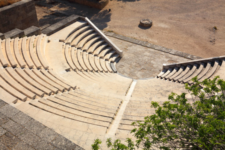 rhodes: antique theatre on the island of Rhodes, for classes of rhetoric