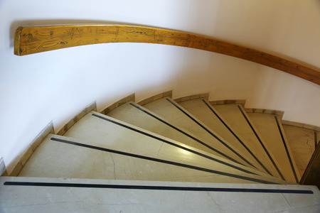 steps and staircases: circular staircase with marble steps