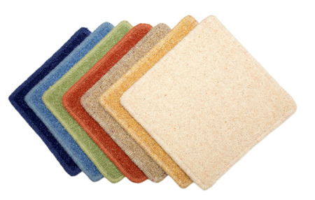 carpet: Samples of color of a carpet covering