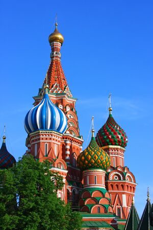 vasily: Cathedral of the Protecting Veil of the Mother of God - St. Basils Cathedral, Moscow, Russia Stock Photo