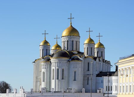 sobor: Dormition Cathedral in Vladimir -Sobor Uspeniya Presvyatoy Bogoroditsy