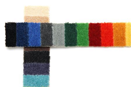 carpeting: samples of different colors of carpeting
