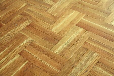 wood flooring: old parquet on the floor in the room