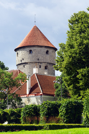 Kiek in de Kök (Low German: Peep into the Kitchen) is an artillery tower in Tallinn Stock Photo