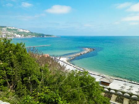 Beautiful Black Sea coast in Balchik, Dobrich Province, Bulgaria.